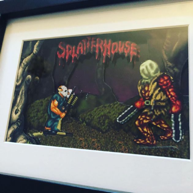 Splatterhouse 3D Diorama Shadow Box